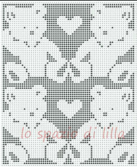 Filet Crochet Baby Blankets Pattern The Lilac Space Diagrams Of