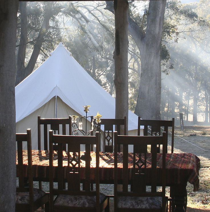 Early morning at the GlampCamp