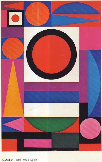 Auguste Herbin, Génération, 1959
