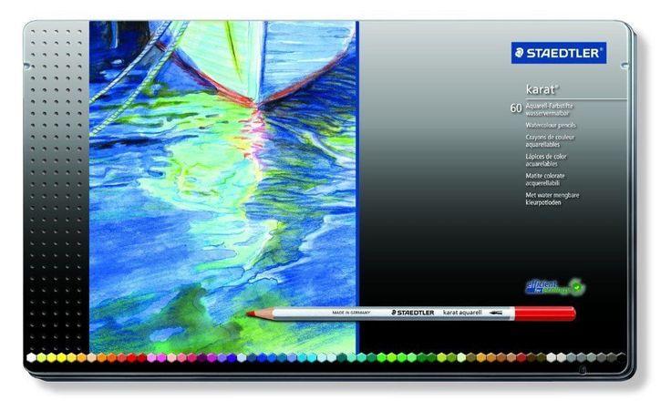 Staedtler Karat Aquarell Professional Watercolour Pencil 60 Colors 125 M60 #Staedtler