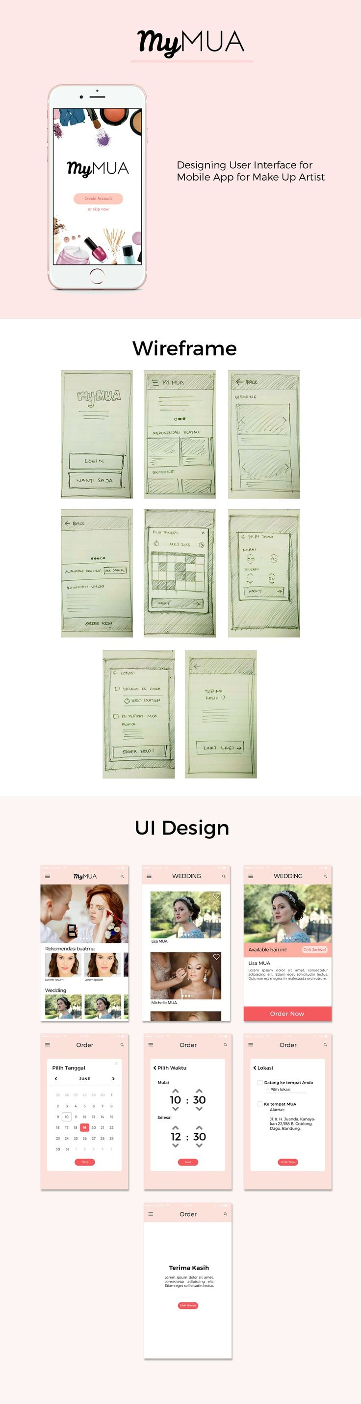 UI design for make up artist mobile app - MyMUA