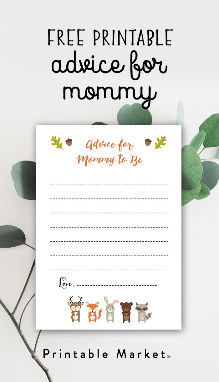 Find The Perfect Printable Printable Market Baby Shower Advice Cards Free Baby Shower Baby Shower Printables