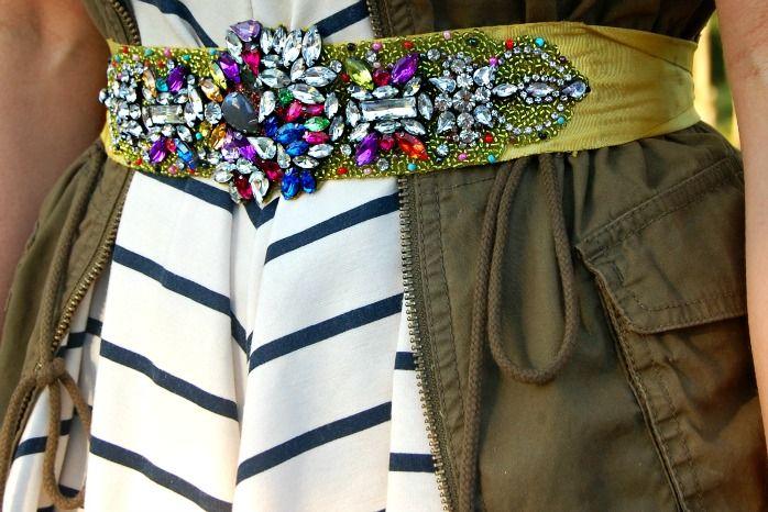 DIY ACCESSORY INSPO   Jeweled Belt