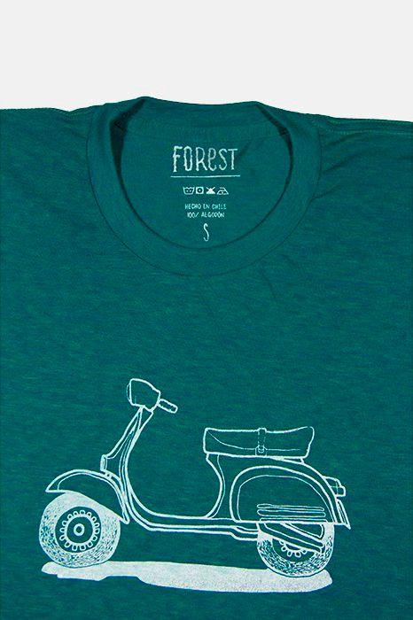 Vespa por Forest  http://followtheforest.com/poleras/211-camioneta-ford-1950-por-forest.html