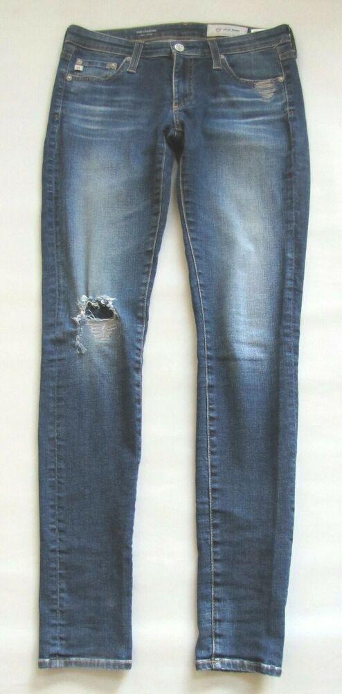 4bab328296c8f AG Adriano Goldschmied Legging Super Skinny Jeans Size 26 11 Year Repair  Denim #AGAdrianoGoldschmied #Leggings