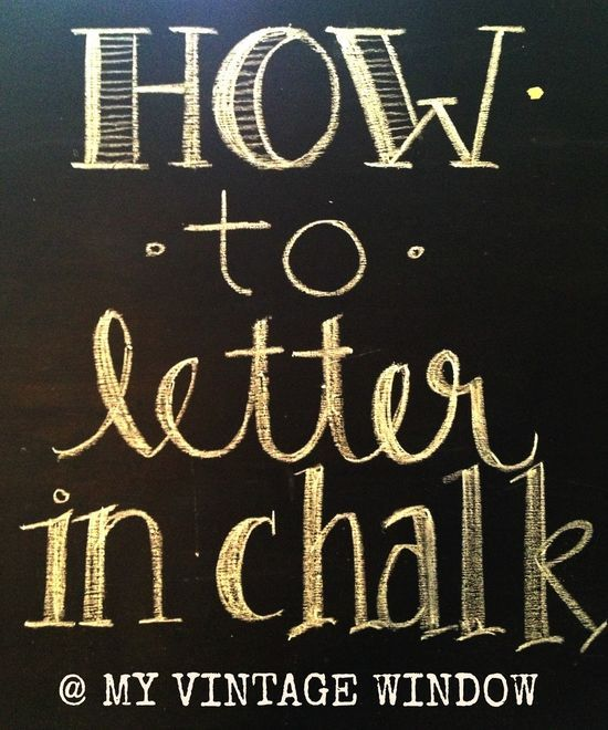 Learn To Write With Chalk