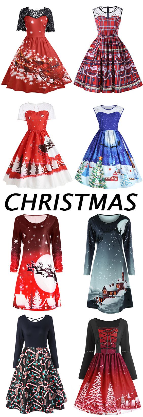 50% off Christmas dresses.Free Shipping Worldwide - Not sure if the discount is valid but look at those cute dresses!!