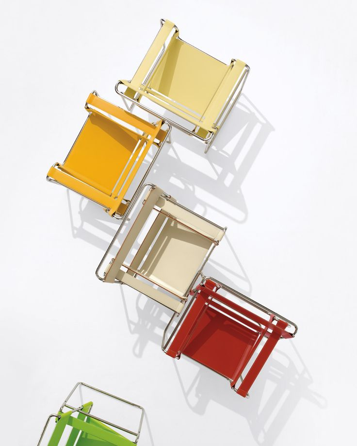 Marcel Breuer's Bauhaus icon, the Wassily chair, in a new twist.