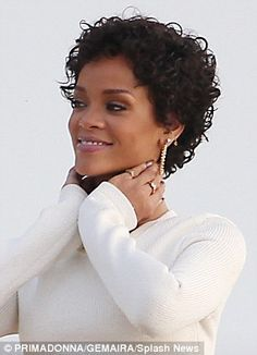 curly hair short haircuts rihanna - Google Search