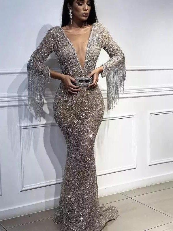 Strong-Willed New Arrival Custom Made V Neck Evening Dresses Long 2019 Robe De Soiree Kaftan Evening Gown Vestidos De Festa Weddings & Events