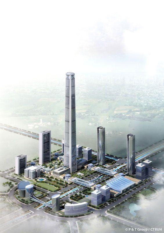 Goldin Finance 117, Tianjin-China, 596.5 m, UC, architect-P&T Group/ECADI