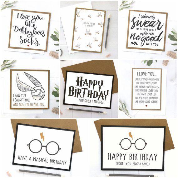 Harry Potter Birthday Card Harry Potter Harry Potter Card Etsy Harry Potter Cards Harry Potter Birthday Cards Birthday Cards