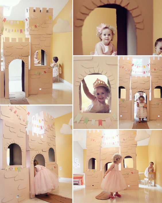 Замок из картонной коробки | http://www.babyroomblog.ru/