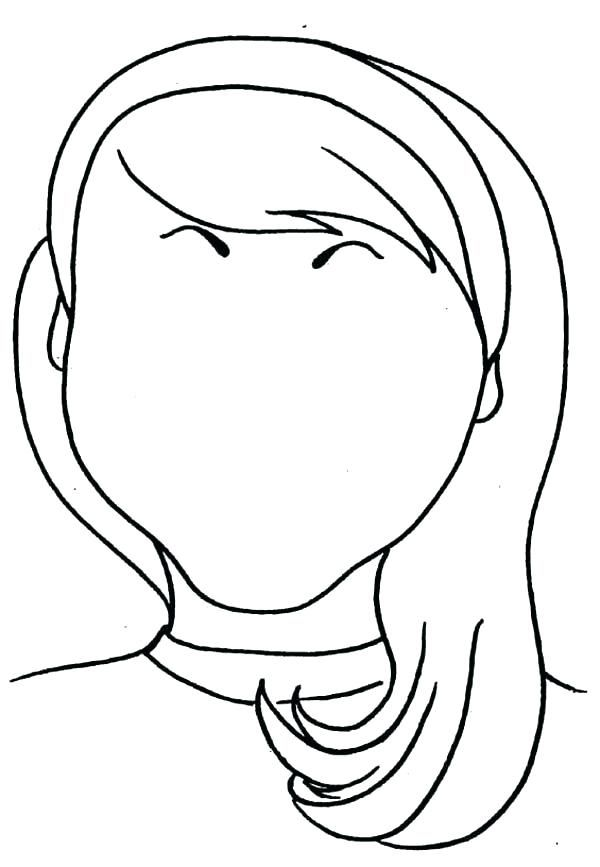Blank Face Coloring Page Child