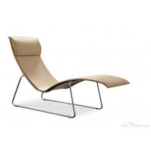 Chaise longue en cuir design RELAX et chaises longues design en cuir ( Paris, Toulouse, Lyon ).