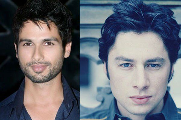 Shahid Kapoor & Zach Braff:   These two are the chocolate boys of their respective industries. Both have similar face cuts and smiles. Cuteness is the way to go indeed!