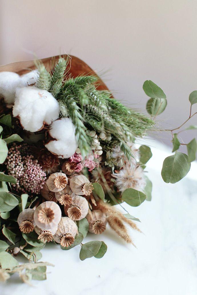 Décorez avec des bouquets de fleurs séchés | Styling par Glitter-guide