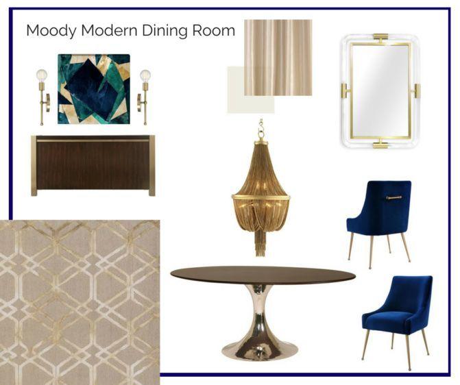 Room In A Box Moody Modern Dining Room Interior Design Room