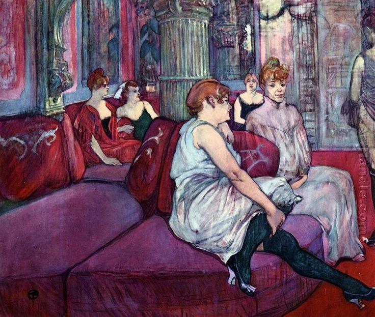 Toulouse Lautrec - Au Salon de la Rue des Moulins.