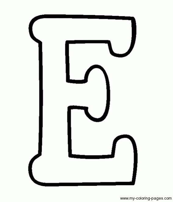 Coloring Capital Letters E VBS Lettering String Art