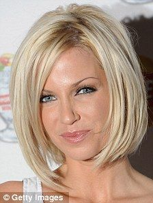 short blonde hair. love the cut!