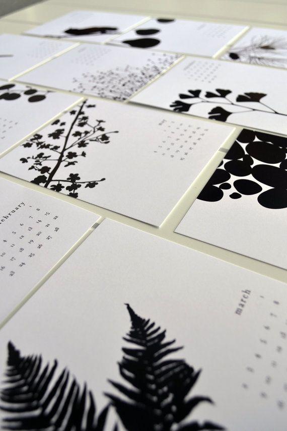 2014 Desk Calendar  Black and White by JPress by JPressDesigns, $15.00