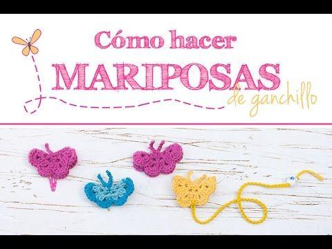Cómo hacer mariposas de ganchillo | How to make crochet butterflies - YouTube