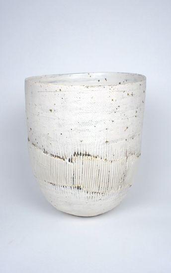 Ani Kasten; Large White Bowl with Porcelain Band