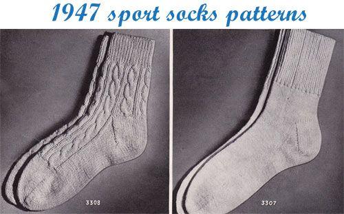 Knitting Pattern For Sport Socks : Vintage knitting patterns: 1947 sport socks by gum, by golly! knitting ...