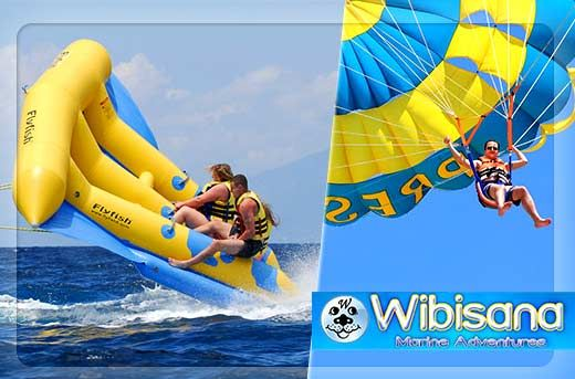 Adrenaline-Pumping Sky High Activities in Tanjung Benoa, Bali: Parasailing or Flying Fish Starting at Rp59.000 instead of Rp125.000 - Exclusively and only at www.MetroDeal.co.id