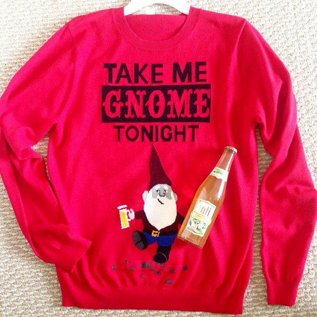 Onli Ugly Sweater Party Take Me Gnome Tonight Green Tea