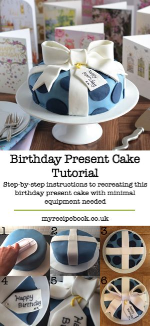 How to decorate a birthday cake to look like a birthday present, complete with fondant bow. It's easier than you'd think and doesn't need lots of fancy equipment.