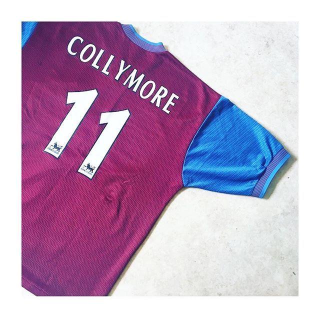 Collymore 11 Villa Home 97 98 Link In Bio Villa Astonvilla Avfc Collymore Stancollymore Retro Football Shirts Vintage Football Shirts Football Shirts