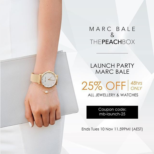 25% OFF SALE NOW ON! Marc Bale Launch Party! 48 Hours only! @marcbaleofficial  To celebrate the recent launch of our sister brand Marc Bale, ThePeachBox and Marc Bale are both having a 25% Off Store Wide Sale for the NEXT 48 Hours.  MARC BALE is a modern lifestyle brand that blends timeless design aesthetics with contemporary fashion trends. We create and curate modern, stylish and versatile pieces that are high quality, luxurious and affordable.  You can now...