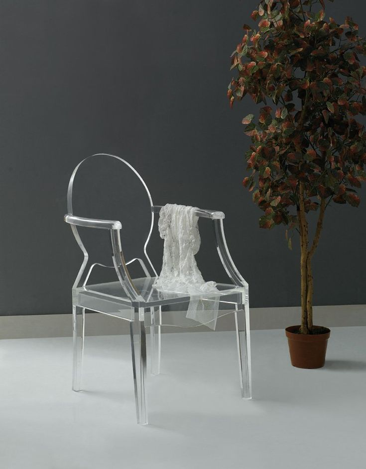 Acrylic Ghost Chair Lucite Furniture Translucent I Want Pinterest Lu