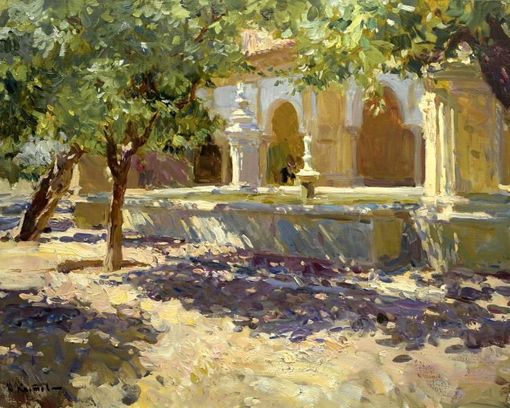 "Yuri Krotov "" Fountain of the Mosque,Cordoba."""