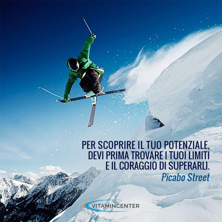 Per scoprire il tuo potenziale, dei prima trovare i tuoi limiti e il coraggio di superarli. Picabo Street #motivationmonday #fitness #sport #quotes #frasi #motivazionali