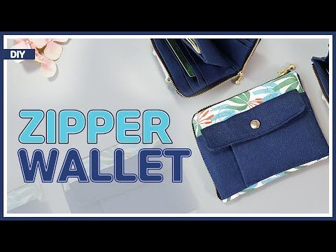 DIY/ ZIPPED CURVED WALLET/ L-shaped round zip wall…
