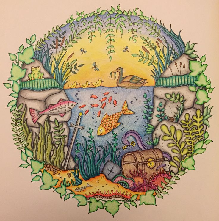 Page From Enchanted Forest Completed On August 2015 Using Only Polychromos