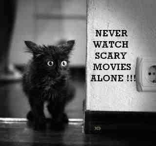 Never watch scary movies alone!!!