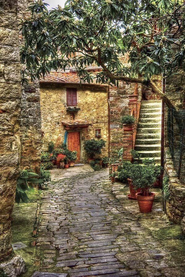 Cobblestone Path ~ Montefili, Tuscany, Italy