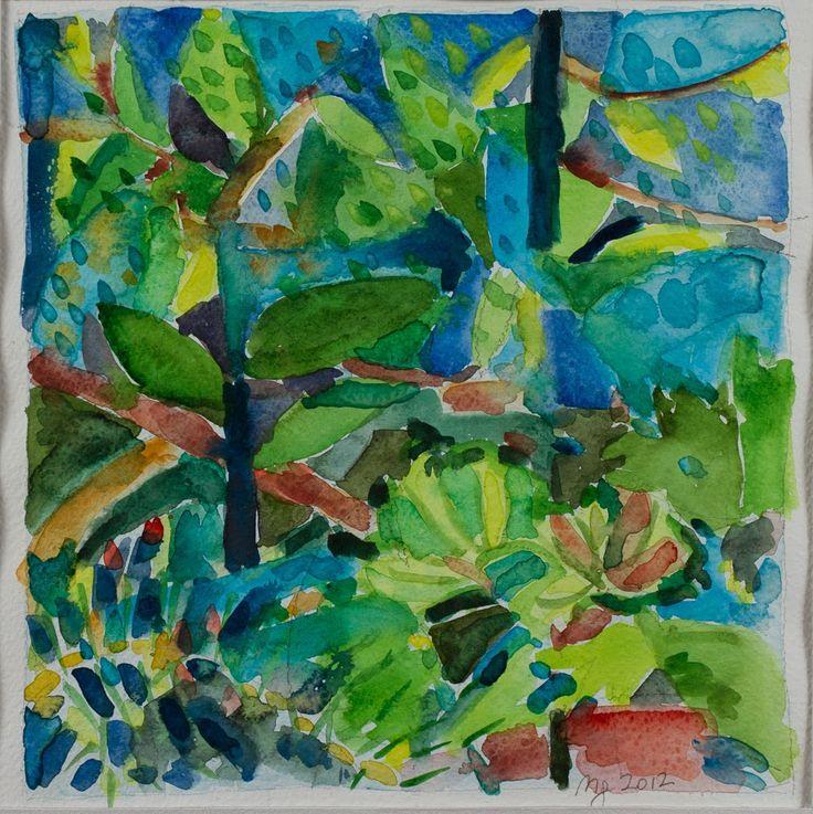 Marina Goldaracena Pinturas: Abril en el jardin