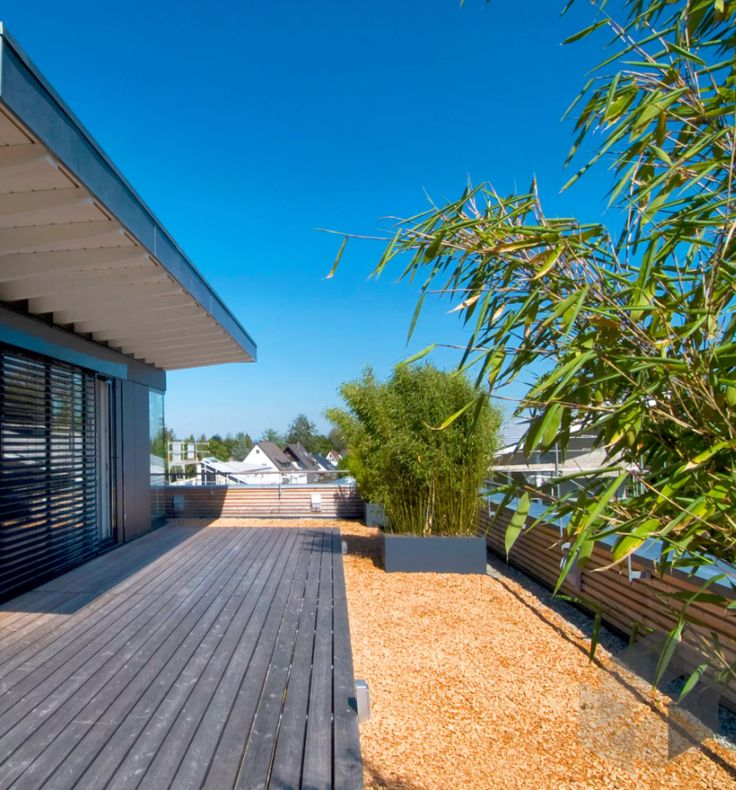 Auf Der Dachterrasse Des Modern Living Von Baufritz Kann Man Den Sommer Von  Früh Bis Abends Genießen. Schau Es Dir Auf Der ___ Fertighaus.de ___  Webseite ...
