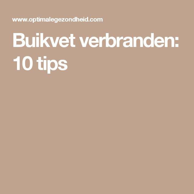 Buikvet verbranden: 10 tips