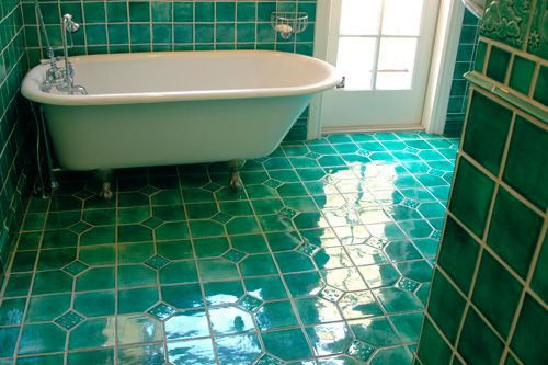 Feeling The Teal From Blueslide Tile Collection Rustic