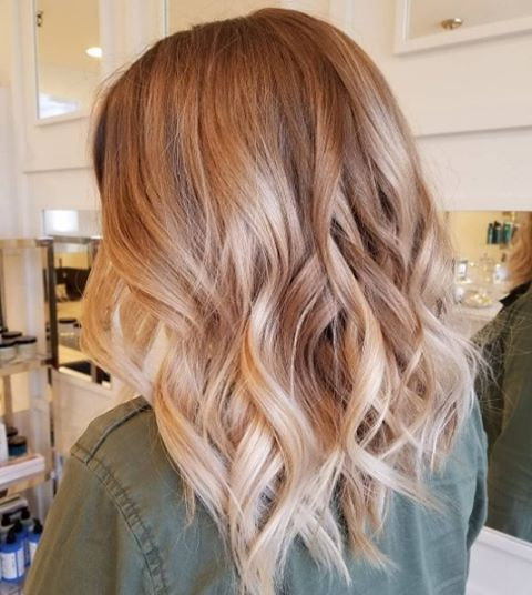 Strawberry Blonde Balayage On Brown Hair Www Pixshark