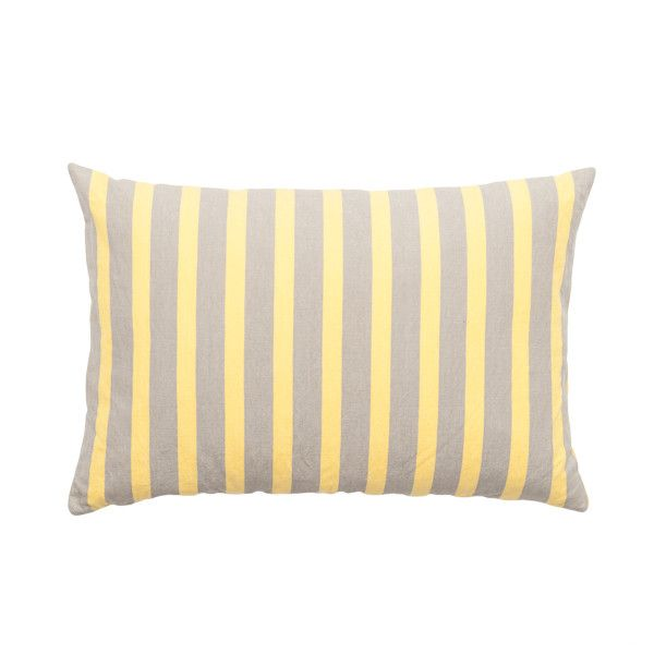 MOLLY CUSHION YELLOW.  $74.95 AUD. Cotton/Linen Blend - 40x60cm Cushion.  Colour: Yellow. Note: Every cushion is filled with a 100% feather insert.