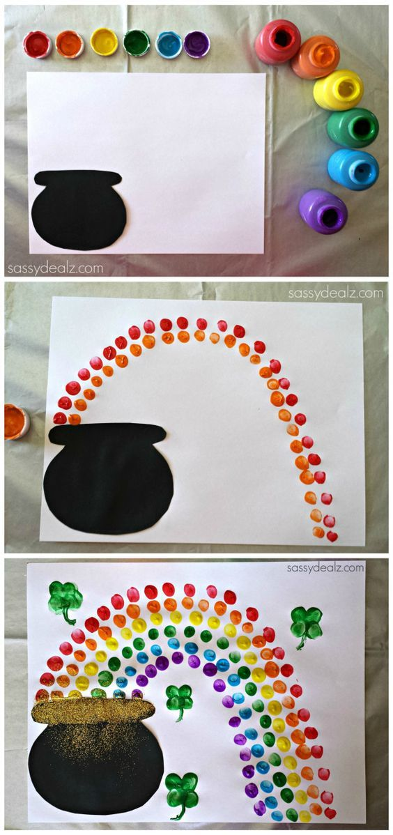 Easy St. Patrick's Day Crafts For Kids - Sassy Dealz Make just the rainbow for VBS. ( I would use dot art for this )