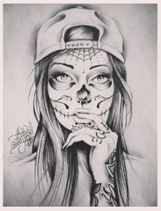 Sugar Skull On Pinterest Gangster Girl Drawing Ideas And