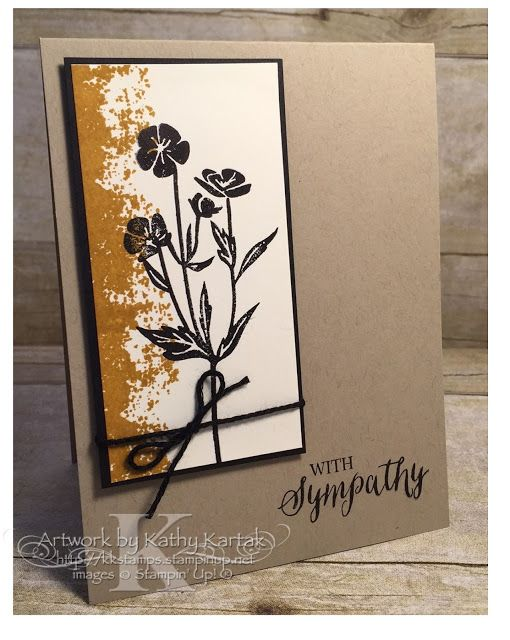 """Faithful INKspirations: Textured Sympathy is made with Stampin' Up's """"Wild About Flowers,"""" """"Timeless Textures,"""" and """"Rose Wonder"""" stamp sets."""